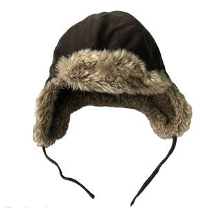 Faux Fur Trapper Hat Ties Warm & Cozy 12-18 Months